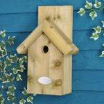 Wooden Apex Bird Nest Box by Ernest Charles