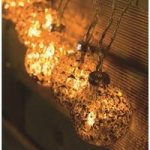 10 LED Gold Stellar Glass Orb Bauble String Lights (Battery) by Smart Garden