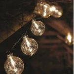 10 LED Silver Stellar Glass Orb Bauble String Lights (Battery) By Smart Garden