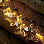 10 LED Gold Stellar Glass Star String Lights (Battery) by Smart Garden