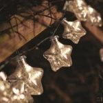10 LED Silver Stellar Glass Star String Lights (Battery) by Smart Garden
