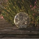 Silver Stellar Glass Orb Light (Battery) by Smart Solar