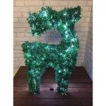 Standing Faux Topiary Pre-lit Christmas Reindeer 80cm Tall with 100 LEDs