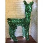 Standing Faux Topiary Pre-lit Christmas Reindeer 125cm Tall with 200 LEDs