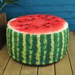 Outdoor Pouffe Garden Seat Melon Design by Fallen Fruits
