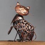 Silhouette Cat Light Garden Sculpture (Solar) by Smart Garden