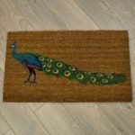 Peacock Coir Doormat by Gardman