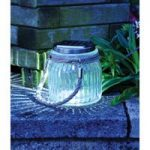 Solar Glass Jam Jar Garden Hanging Lantern by Kingfisher