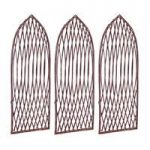 Set of 3 Willow Lattice Trellis With Gothic Top (120cm x 45cm) by Gardman