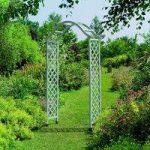 Set of 2 Elegance Wooden Garden Arch with Trellis (Sea Breeze) by Gardman