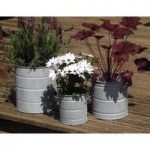 Aged Zinc Churns (Set of 3) by Rustic Garden