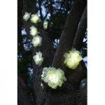 10 White Rose Flower LED String Lights (Solar) by Smart Solar