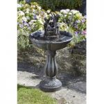 Tipping Pail Fountain Outdoor Water Feature (Solar) by Smart Solar