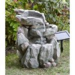 Rock Falls Fountain Outdoor Water Feature (Solar) by Smart Solar