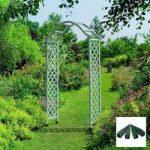 Elegance Wooden Garden Arch (Sea Breeze) with Ground Spikes by Gardman