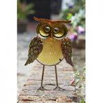 Glass Owl Orla Garden Ornament by Smart Garden