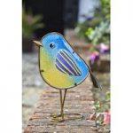 Glass Blue Tit Betsy Garden Ornament by Smart Garden