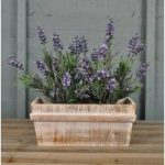 Pine Trough Garden Planter Witewashed by Rustic Garden