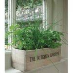 Wooden Herb Box with Mediterranean Herb Seeds by Unwins