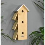 Sparrow Flats Wooden Nesting Box by Fallen Fruits