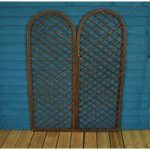 Set of 2 Willow Trellis With Curved Top (180cm x 60cm) by Gardman