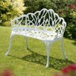 Perth White Cast Aluminium Garden Bench by Suntime