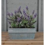 Wooden Trough Planter Blue Washed by Rustic Garden