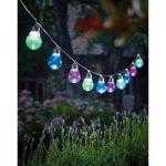 10 LED Multi-Coloured Lightbulb String Lights (Solar) by Gardman
