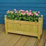 Set of 2 Wooden Garden Trough Planters by Gardman