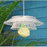 Hobnail Clear Glass Round Bell Fat Ball Bird Feeder by Fallen Fruits