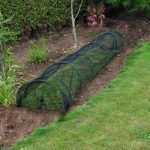 Set of 2 Black Net Grow Tunnel Cloches (3m) by Kingfisher