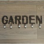 Cast Iron Garden Letters with Hooks by Fallen Fruits