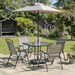 Metal and Textoline 7 Piece Oasis Garden Furniture Set by Transcon