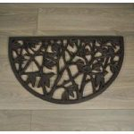 Bird Design Semi Circular Cast Iron Doormat by Fallen Fruits