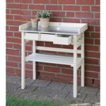 Potting Table and Garden Work Bench in Cream by Fallen Fruits