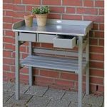 Potting Table and Garden Work Bench in Grey by Fallen Fruits