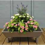 Wooden Three Tier Pyramid Planter in Grey by Fallen Fruits