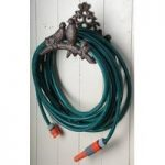 Cast Iron Traditional Garden Hose Holder with Bird Design by Fallen Fruits
