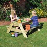 Childrens Outdoor Play Wooden Picnic Table with Sand Pit