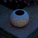 Filigree Porcelain Colour Changing Table Light (Solar) by Smart Garden