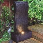Ripple Effect Garden Water Feature Fountain with LED Light (Mains) by Kingfisher