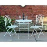 Metal Vintage Cream Bistro Set by Kingfisher