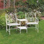 Metal Cream Vintage Love Seat by Kingfisher