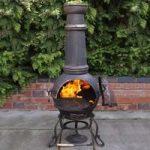Toledo Extra Large Cast Iron Bronze Chimenea with Grill by Gardeco