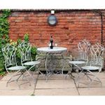 Metal Four Seasons Grey Vintage 4 Seater Garden Dining Set by Kingfisher