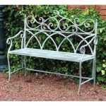 Metal Vintage Four Seasons 2 Seater Garden Bench by Kingfisher