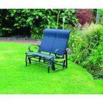 Metal 2 Seater Rocking Glider Garden Bench by Kingfisher