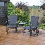 2 Seater Rocking Love Seat Garden Bench by Kingfisher