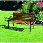 Hardwood Norwegian Style Garden Bench by Kingfisher