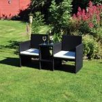 2 Seater Rattan Love Seat Garden Bench by Kingfisher